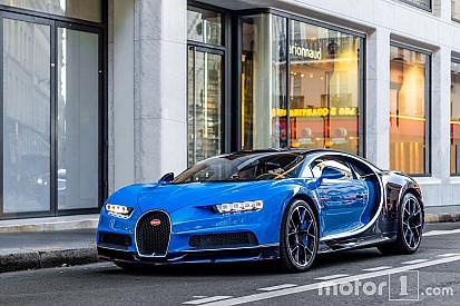 PHOTOS - La première Bugatti Chiron débarque à Paris!