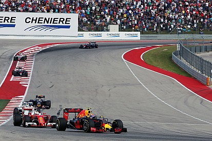 In beeld: Max Verstappen in Texas