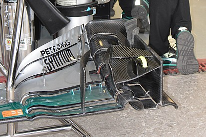 Técnica: desarrollo del alerón delantero del Mercedes en México