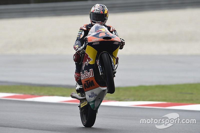 Bendsneyder derde in bizarre GP Maleisië boordevol crashes