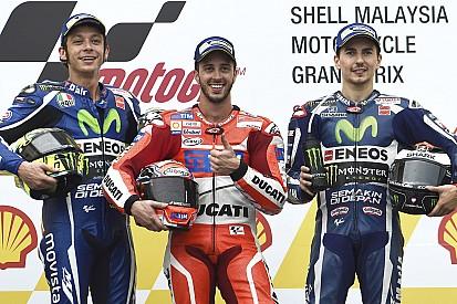Dovizioso vence segunda na MotoGP; 2º, Rossi garante vice