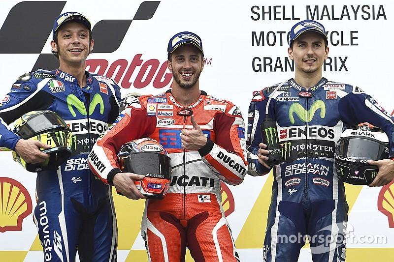 MotoGP马来西亚站正赛:多维齐奥索湿地中勇夺冠军