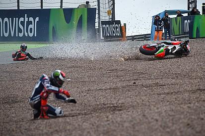 Гонщики MotoGP установили рекорд падений за сезон