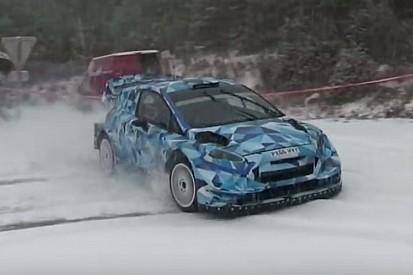 M-Sport prova la nuova Fiesta WRC 2017 sotto la neve a Monte-Carlo