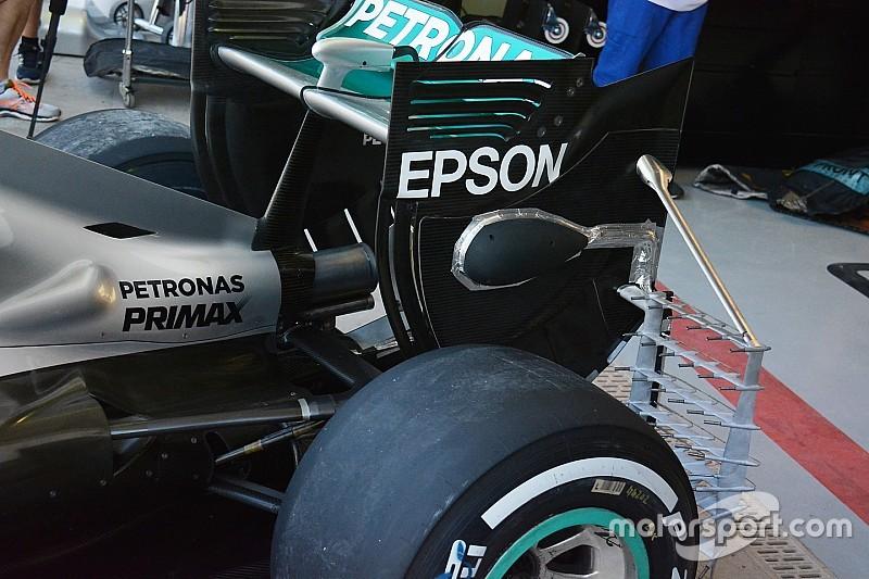 Технічний брифінг: Зонди на задньому антикрилі Mercedes