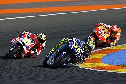 """Rossi naast het podium in GP Valencia: """"Ik was niet snel genoeg"""""""