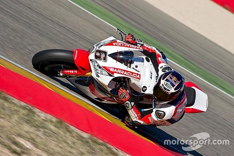 Stefan Bradl gibt Testdebüt für Honda in der Superbike-WM