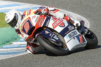 Navarro se lesiona en los test de Moto2 de Valencia