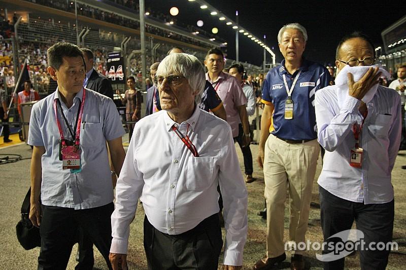 """埃克莱斯顿转变口风,希望F1""""长期""""留在新加坡"""