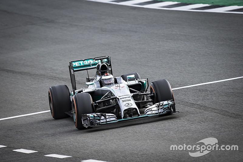 Así fue el test de Lorenzo con el Mercedes F1 W05 en Silverstone (VIDEO)