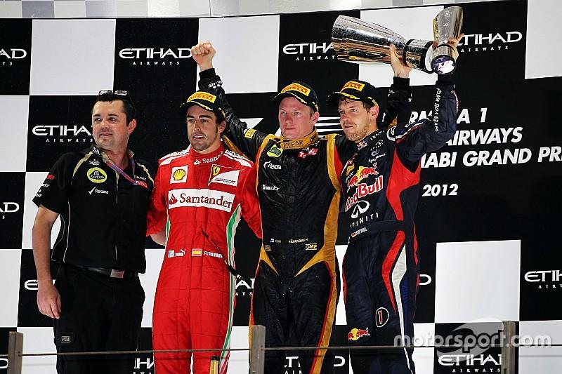 Todos los ganadores y podios del GP de Abu Dhabi de F1