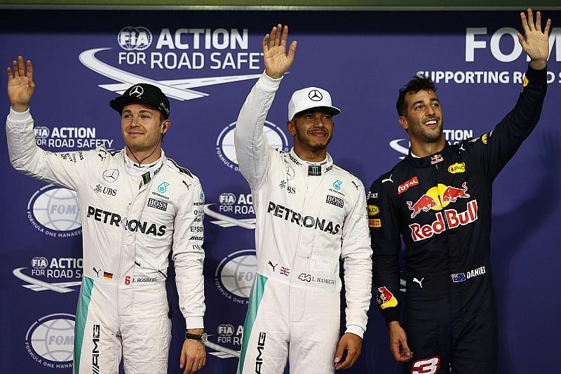 F1阿布扎比大奖赛排位赛:汉密尔顿抢下决战关键杆位