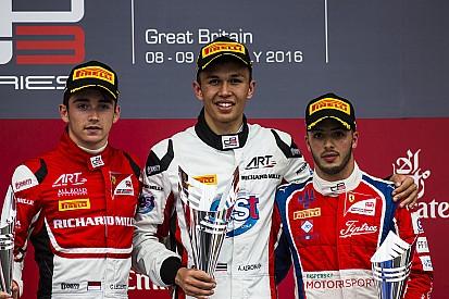 Le tableau d'honneur du GP3 2016