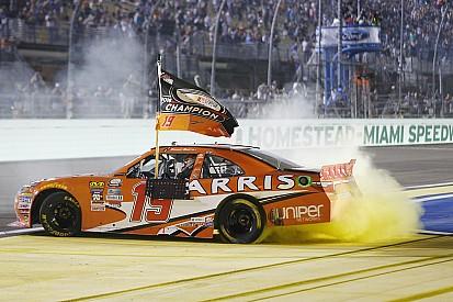 Suárez trabajó mucho para ganar su título en NASCAR