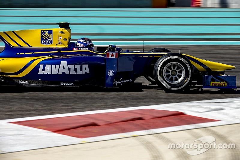 Latifi sluit GP2-test in Abu Dhabi als snelste af, De Vries elfde