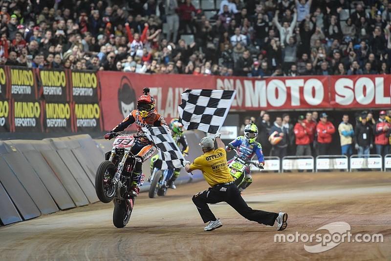 Marquez menangi titel kedua Superprestigio Dirt Track