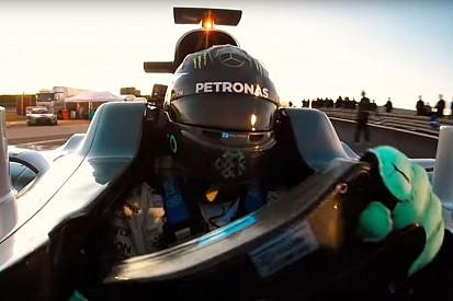 VIDEO: La última vuelta de Nico en el Mercedes W07