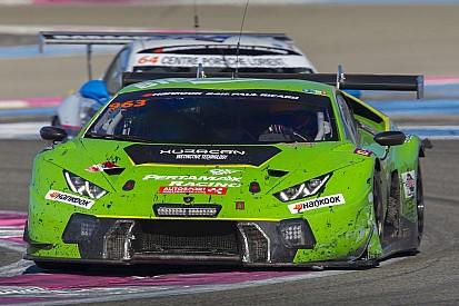 Bortolotti alla 12 Ore di Dubai con una Lamborghini del team Grasser