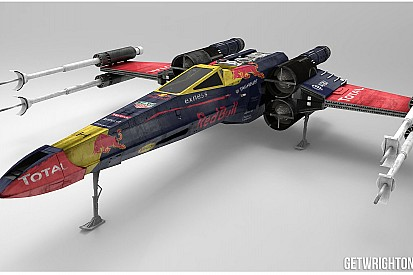 Galeria: Red Bull e Ferrari como naves de Star Wars