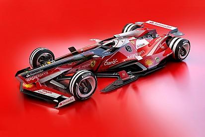 F1 2030: képeken a futurisztikus Ferrari és Red Bull