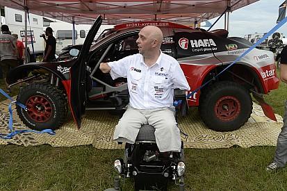 Het kan: zonder armen en benen deelnemen aan de Dakar Rally