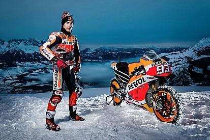 Galería: así fue la 'aventura' de Márquez en la nieve