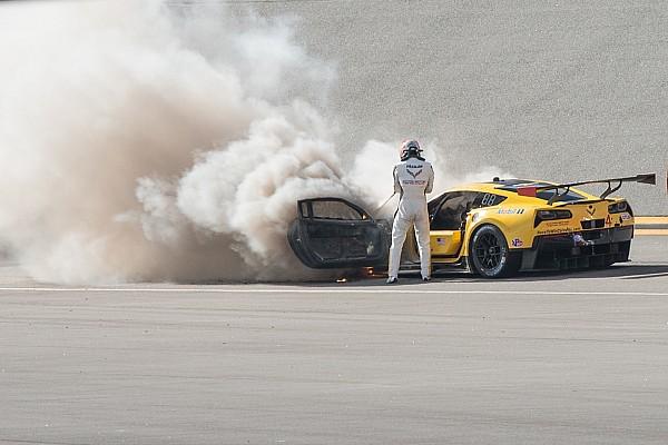 Nach Feuerschaden: Corvette Racing steigt auf Reserveauto um