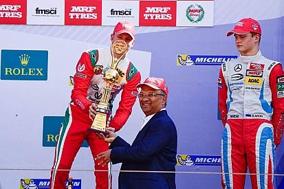 Schumacher fia rajt-cél győzelmet szerzett az indiai F1-es pályán