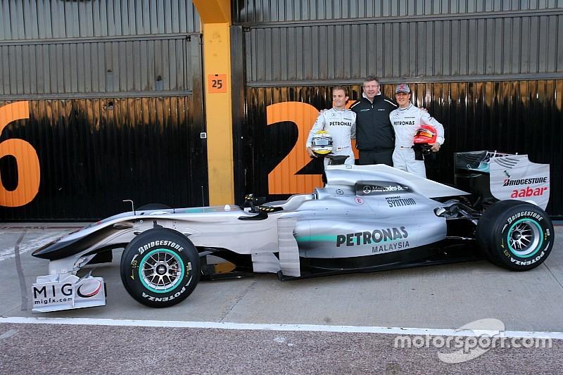 Galería: así fue el primer test de Mercedes hace siete años