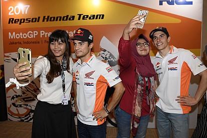 Marquez-Pedrosa terkesan dengan antusiasme fans Indonesia