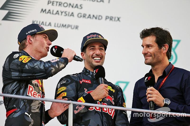 Webber jagokan Ricciardo ketimbang Verstappen di F1 2017