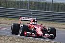 Accidente de Vettel probando los neumáticos de lluvia