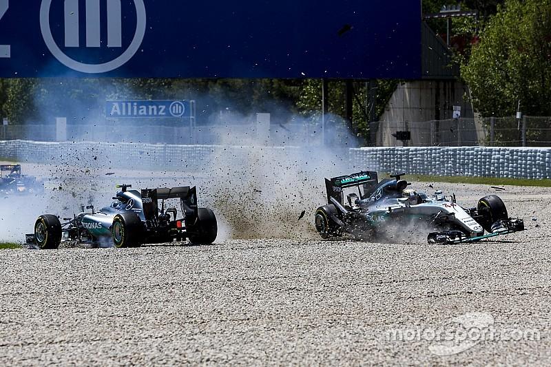"""Rosberg """"plus agressif"""" car Hamilton """"lui avait marché dessus"""""""