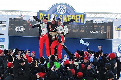WRC: fotókon az ünneplő Toyota-csapat