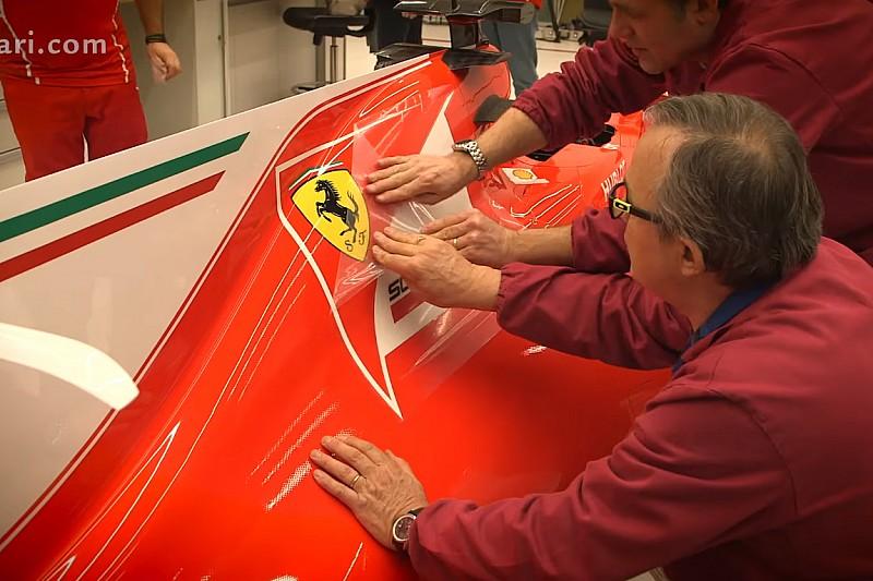 VÍDEO: Confira adesivagem da nova Ferrari na fábrica