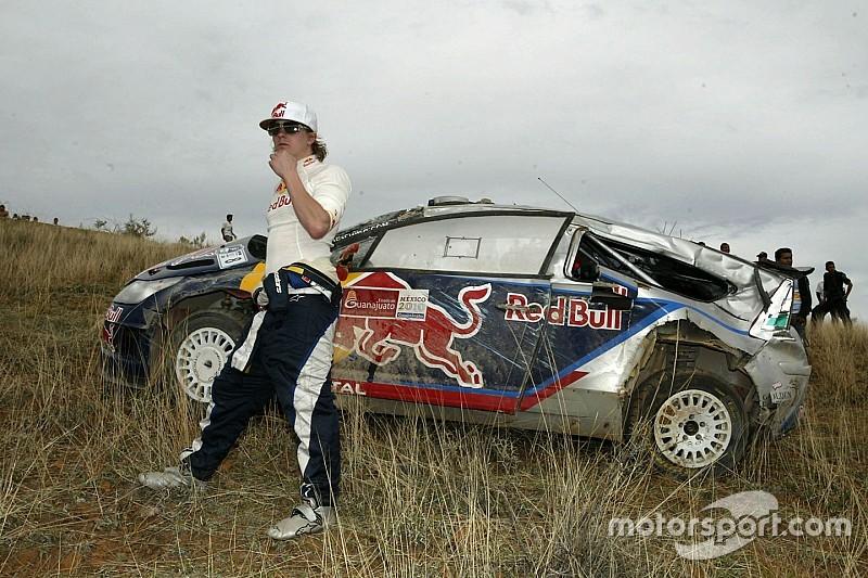 El choque de Kimi Raikkonen en el Rally de México