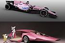 Los fans... y Mercedes reaccionan ante el nuevo color rosa del Force India