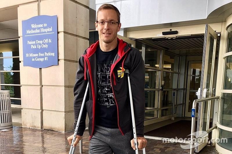 Bourdais recebe alta de hospital e volta para casa