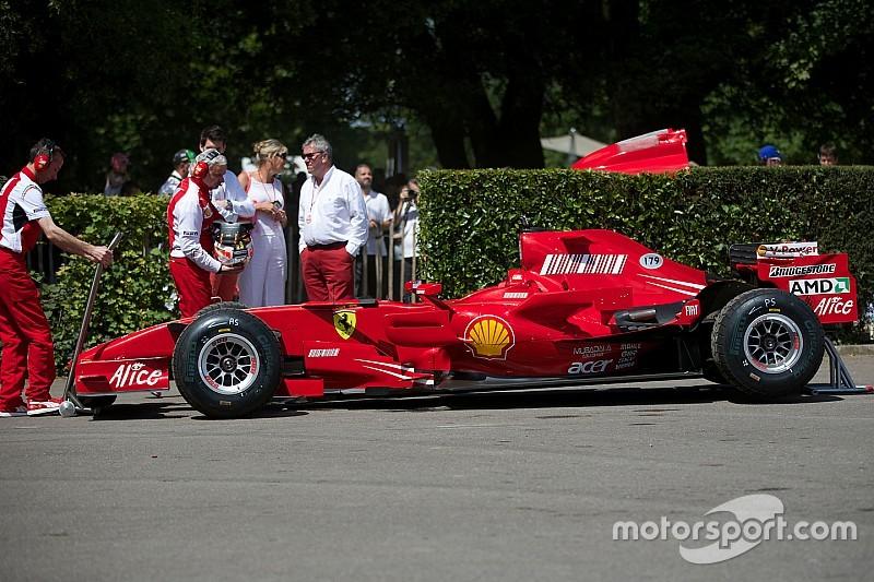 Rigon sulla F2007 a Goodwood per i 70 anni della Ferrari