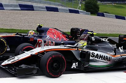 Pérez Vs. Sainz: centikre a becsapódástól