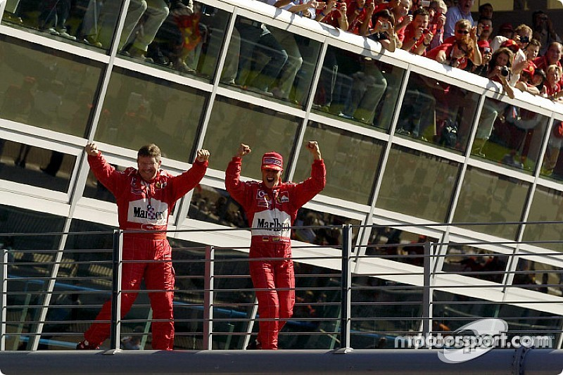 Schumacher-mesterhármas Monzában