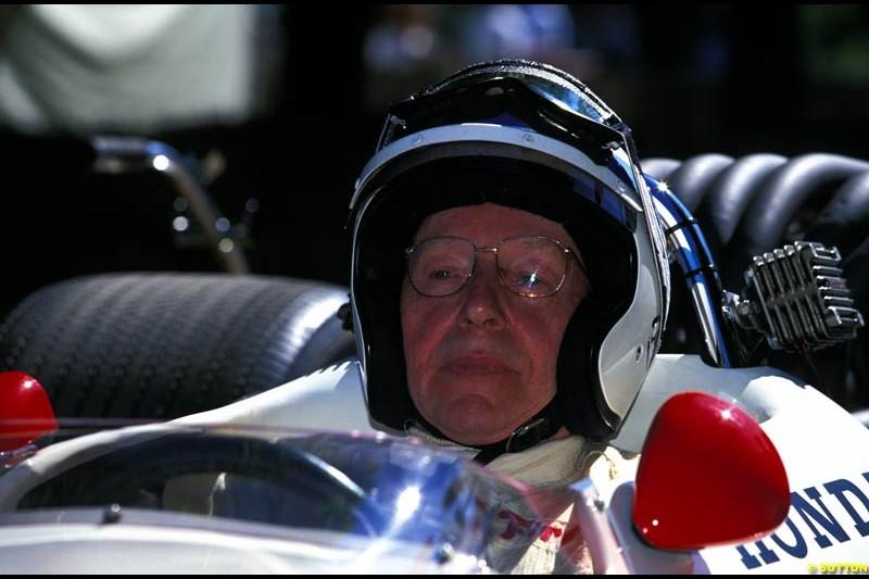 John Surtees, Honda RA300, Goodwood Festival of Speed. July 12-14, 2002.