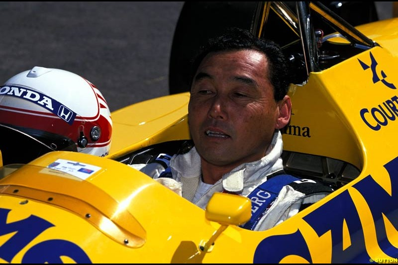 Saturo Nakajima, Lotus Honda 99T, Goodwood Festival of Speed. July 12-14, 2002.