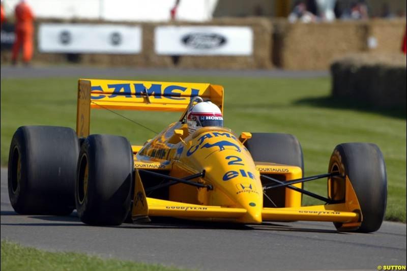 Saturo Nakajima, Lotus Honda 100T, Goodwood Festival of Speed. July 12-14, 2002.