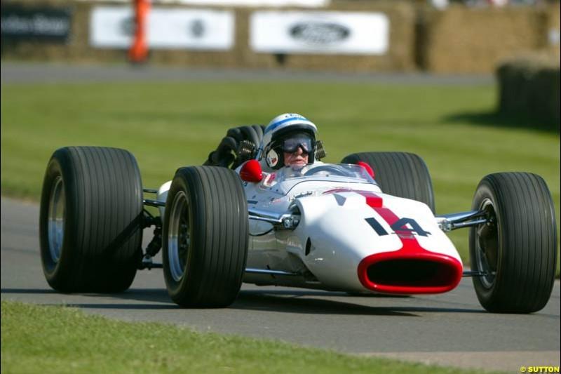 John Surtees, Honda, Goodwood Festival of Speed. July 12-14, 2002.