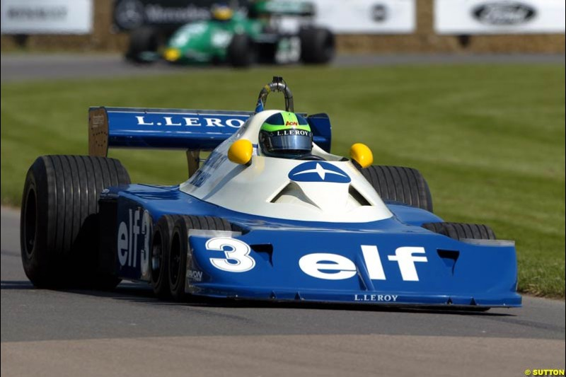 The Tyrrell 6-Wheeler, Goodwood Festival of Speed. July 12-14, 2002.