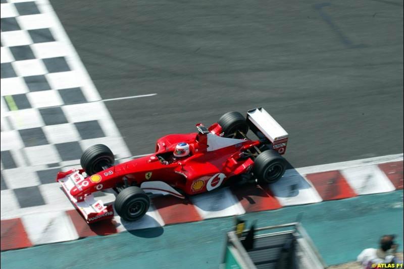 Rubens Barrichello, Ferrari, Qualifying, French Grand Prix, Magny Course, France, July 20th 2002.