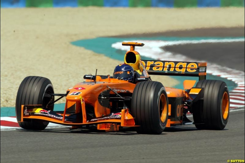 Heinz Harald Frentzen, Arrows, Qualifying, French Grand Prix, Magny Course, France, July 20th 2002.