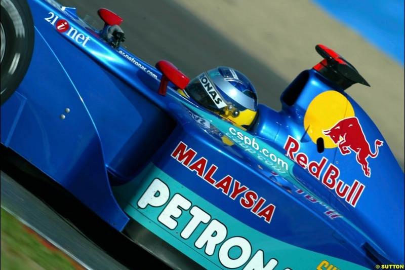 Felipe Massa, Sauber, Qualifying, French Grand Prix, Magny Course, France, July 20th 2002.