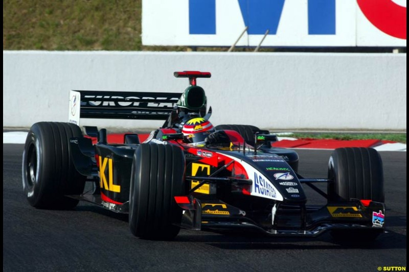Alex Yoong, Minardi, Qualifying, French Grand Prix, Magny Course, France, July 20th 2002.
